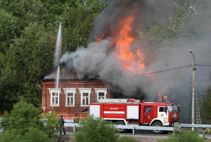 Пожар в сельском поселении Троицкое
