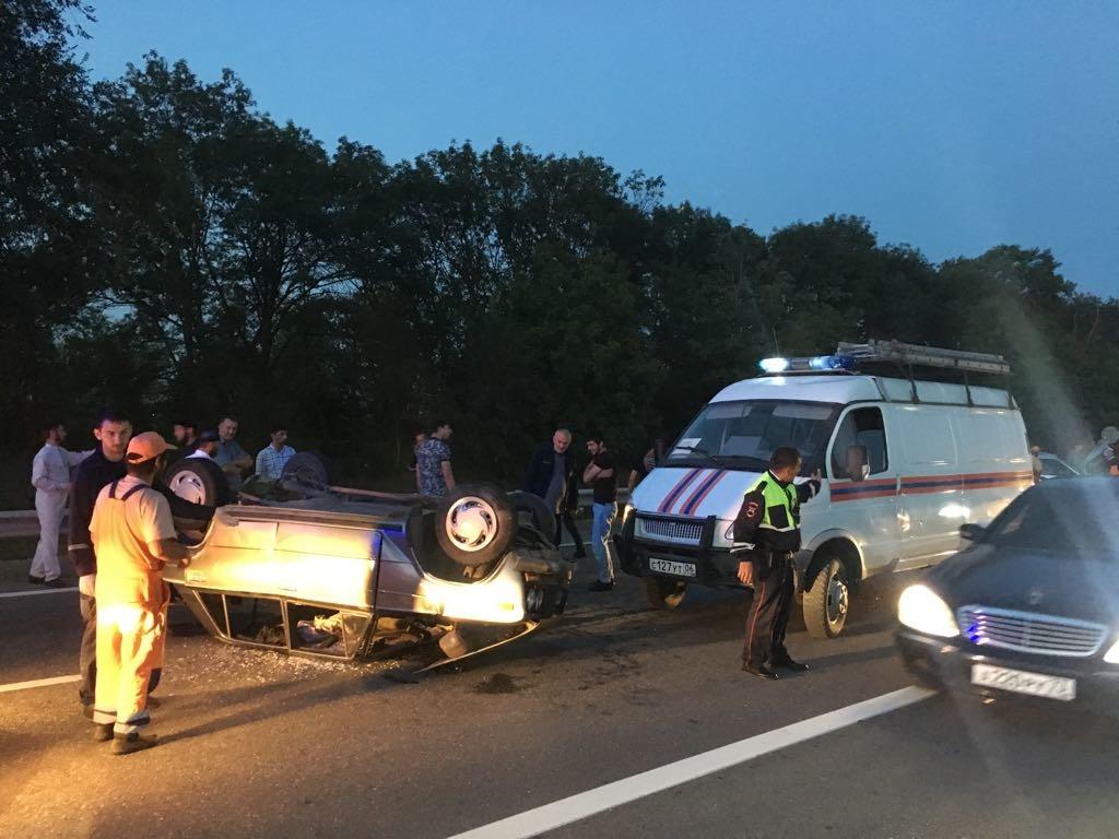Дорожно-транспортное происшествие по дороге Галашки - Нестеровская