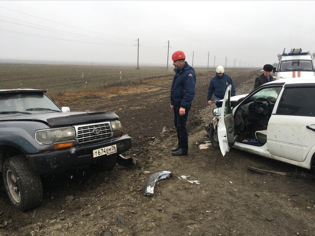 Дорожно-транспортное происшествие по автодороге Алхасты - Сурхахи